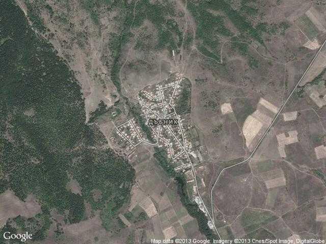 Сателитна карта на Дъбник