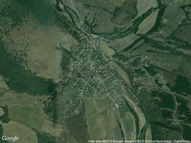 Сателитна карта на Дъбовица