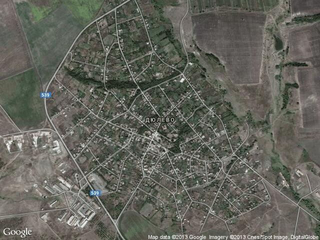 Сателитна карта на Дюлево