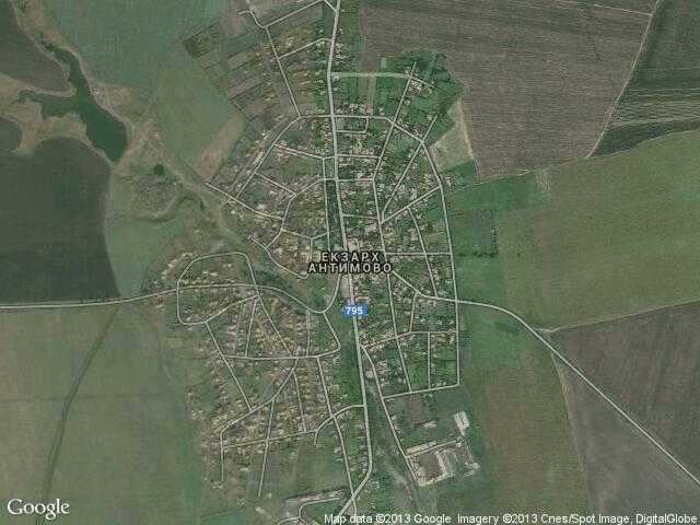 Сателитна карта на Екзарх Антимово