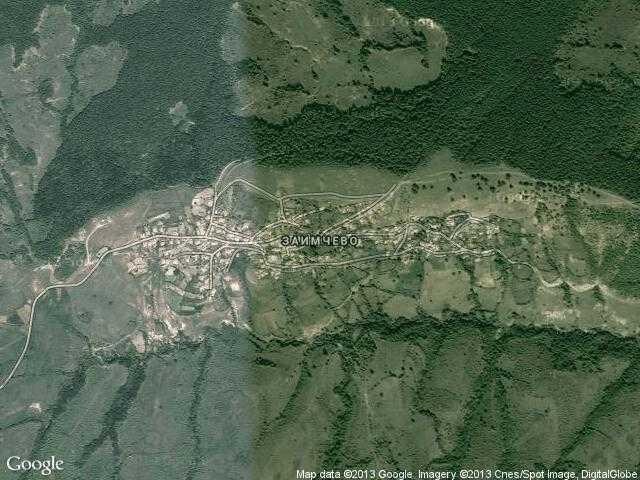 Сателитна карта на Заимчево