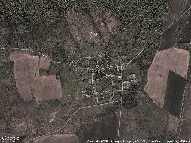 Сателитна карта на Зимен