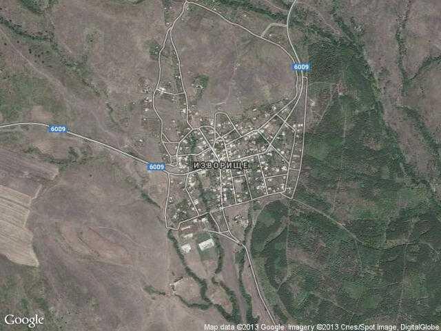 Сателитна карта на Изворище