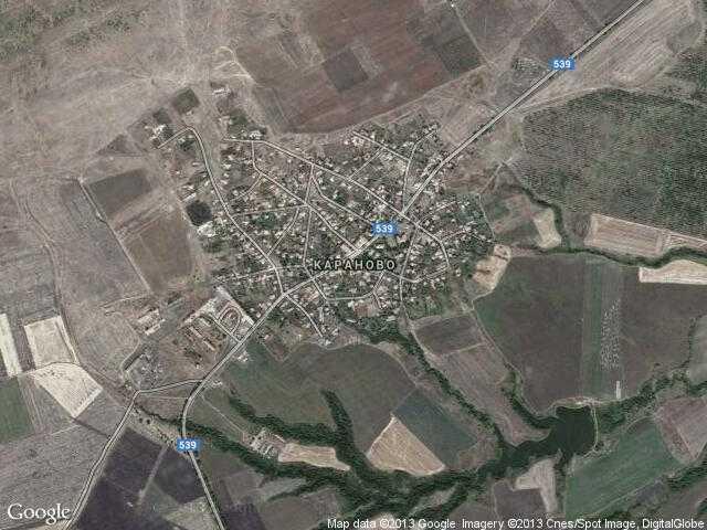 Сателитна карта на Караново
