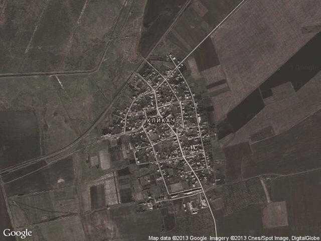Сателитна карта на Кликач
