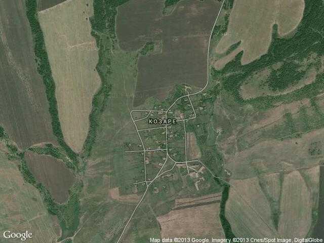 Сателитна карта на Козаре