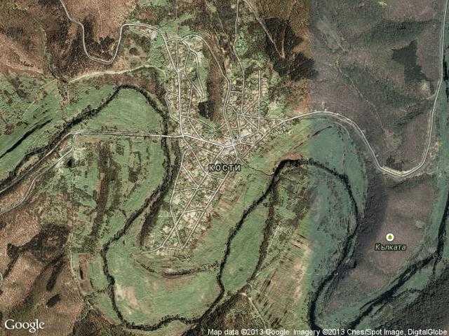 Сателитна карта на Кости