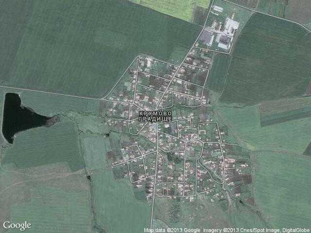 Сателитна карта на Крумово градище