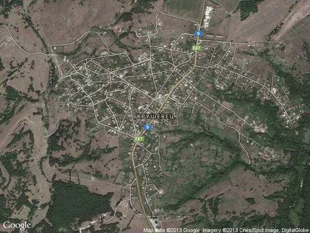 Сателитна карта на Крушевец