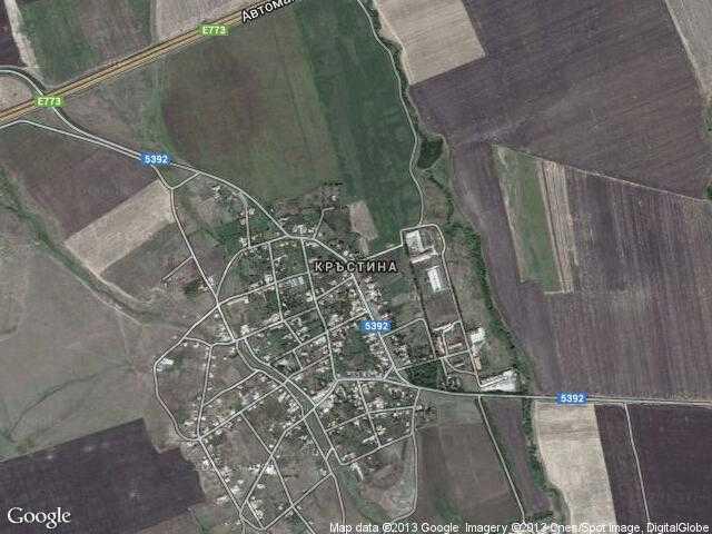 Сателитна карта на Кръстина