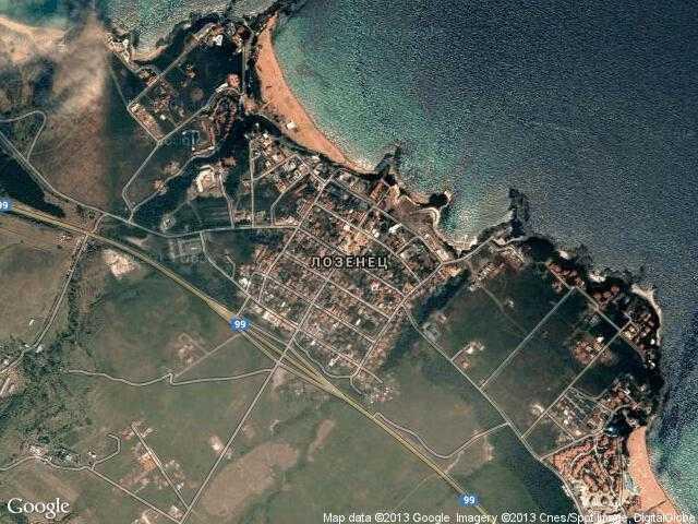 Сателитна карта на Лозенец