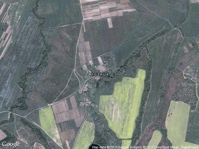 Сателитна карта на Лозица