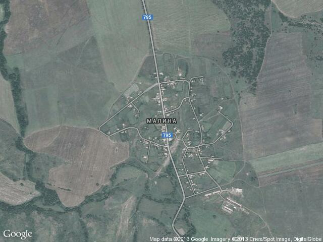 Сателитна карта на Малина