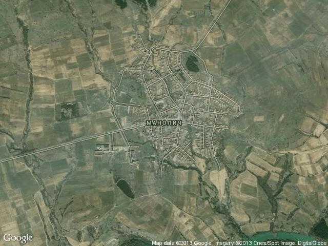 Сателитна карта на Манолич