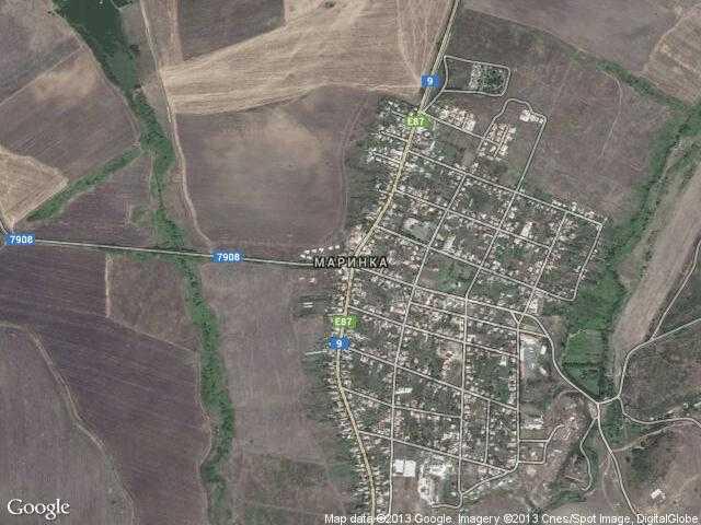 Сателитна карта на Маринка
