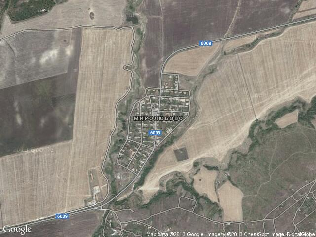 Сателитна карта на Миролюбово