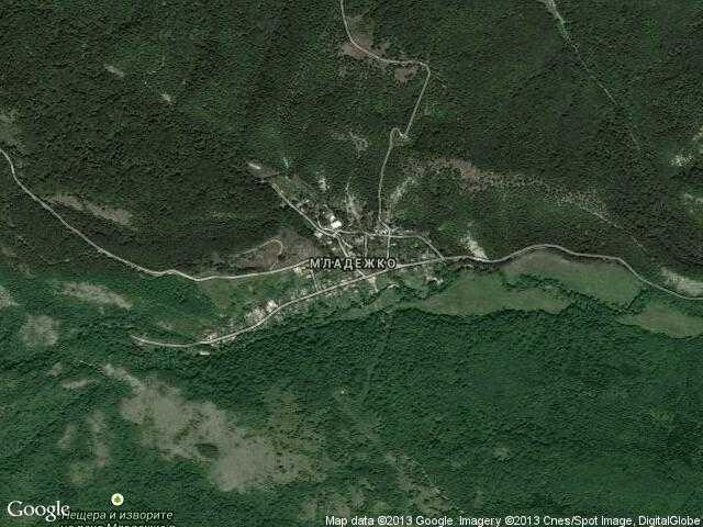 Сателитна карта на Младежко