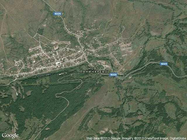 Сателитна карта на Ново Паничарево
