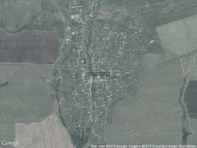 Сателитна карта на Орлинци