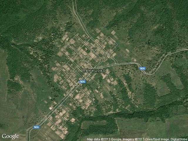 Сателитна карта на Паницово