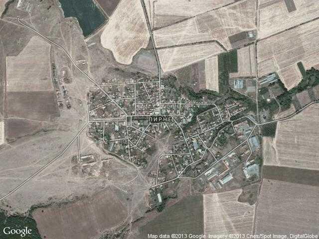 Сателитна карта на Пирне