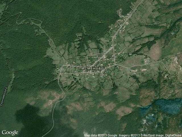 Сателитна карта на Писменово