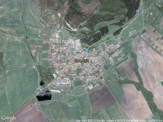Сателитна карта на Прилеп