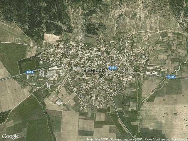 Сателитна карта на Просеник