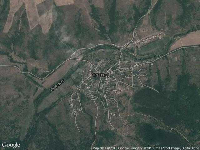 Сателитна карта на Проход