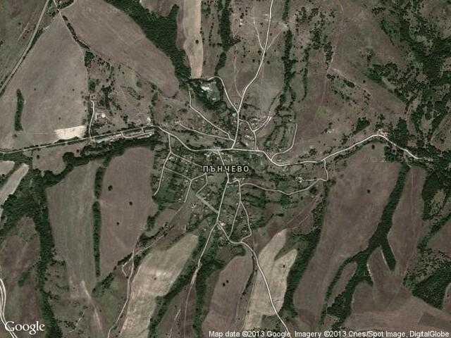 Сателитна карта на Пънчево