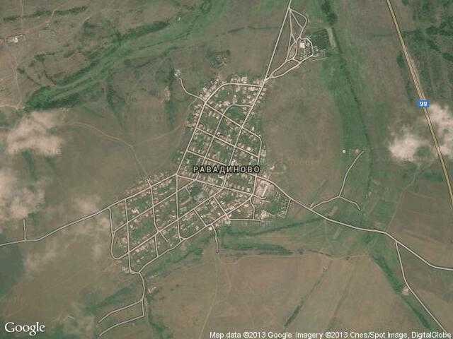 Сателитна карта на Равадиново