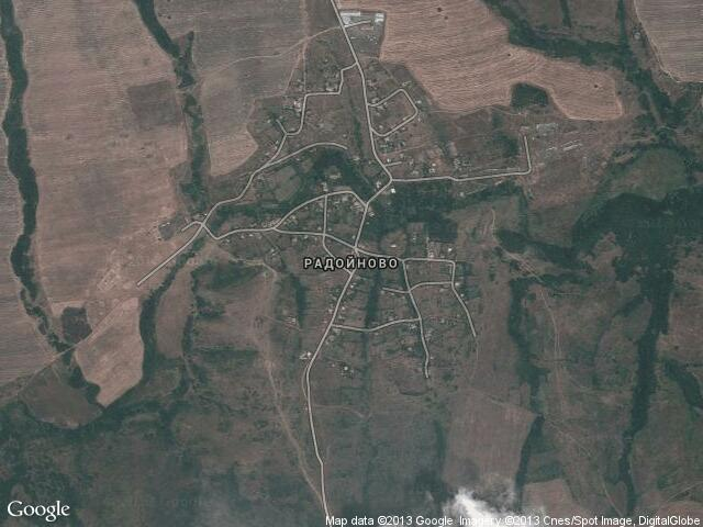 Сателитна карта на Радойново