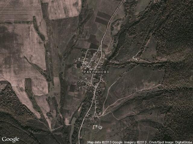 Сателитна карта на Раклиново
