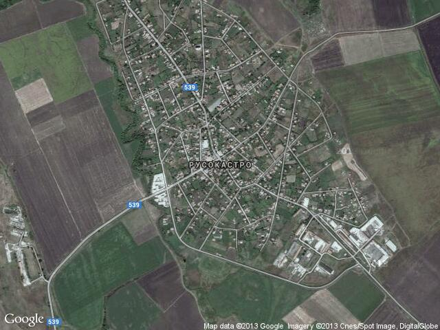 Сателитна карта на Русокастро