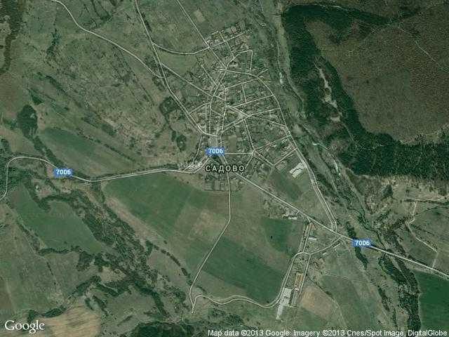 Сателитна карта на Садово