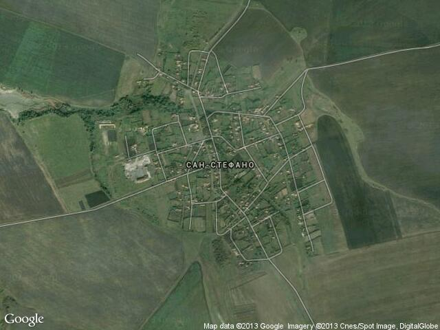 Сателитна карта на Сан-Стефано