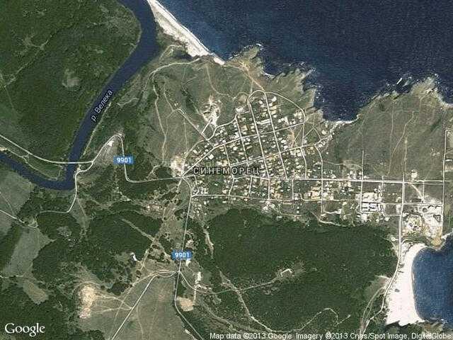 Сателитна карта на Синеморец