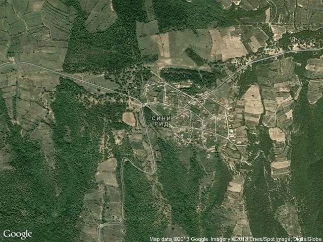Сателитна карта на Сини рид