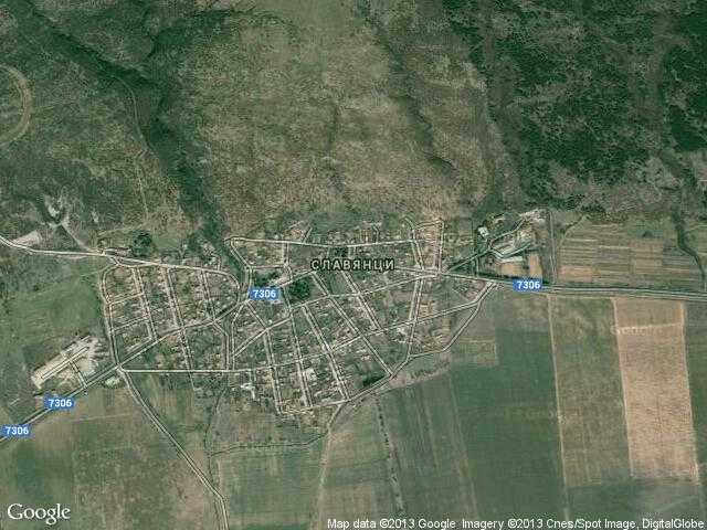 Сателитна карта на Славянци