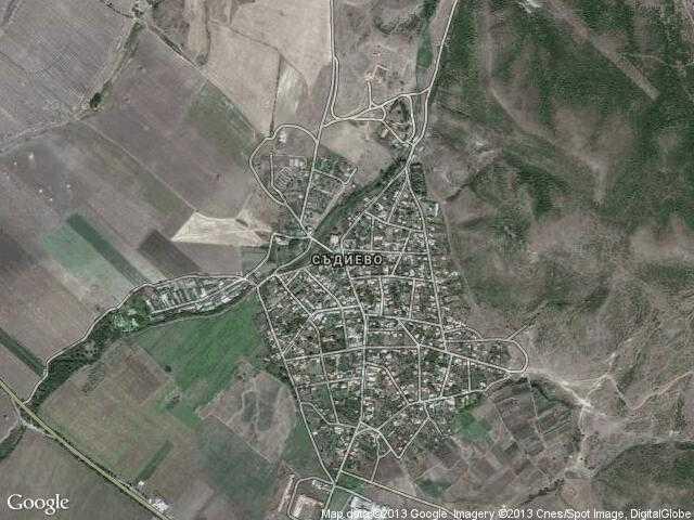 Сателитна карта на Съдиево