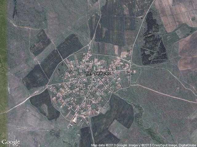 Сателитна карта на Терзийско
