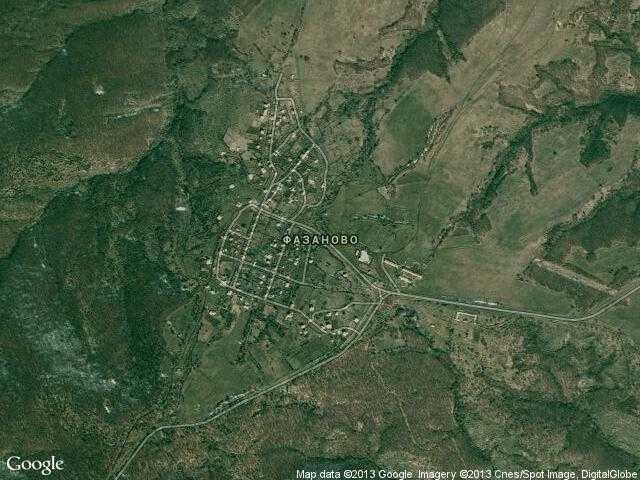 Сателитна карта на Фазаново