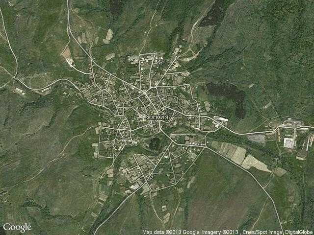 Сателитна карта на Факия