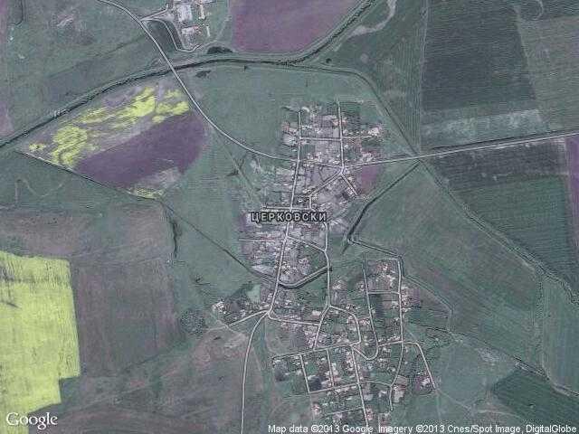 Сателитна карта на Церковски