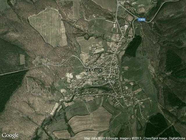 Сателитна карта на Череша