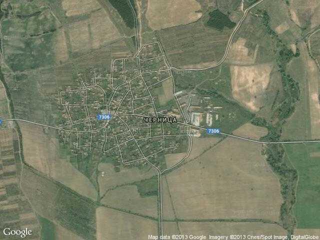 Сателитна карта на Черница