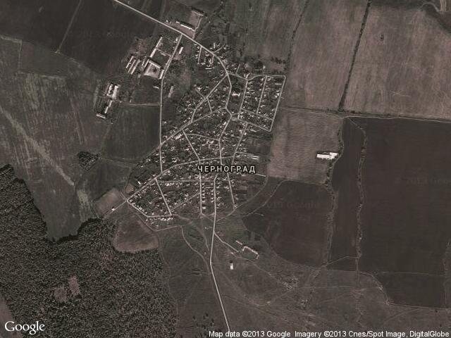 Сателитна карта на Черноград