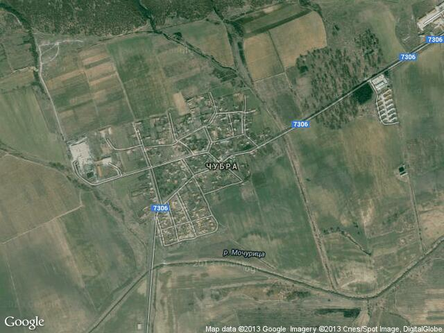 Сателитна карта на Чубра