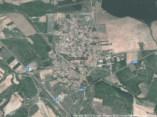 Сателитна карта на Ябълчево