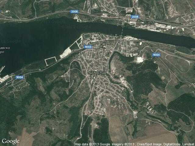 Сателитна карта на Белослав